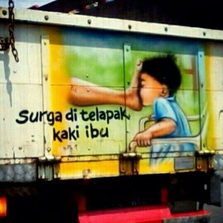 Lukisan bak truk keren