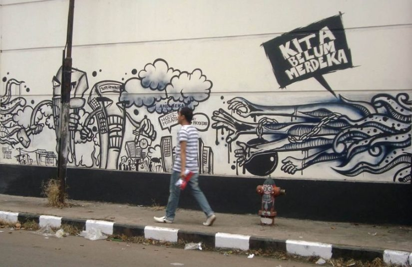 grafiti tembok kamar