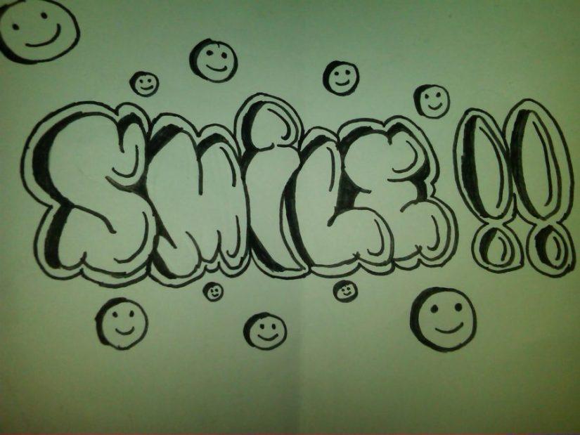 huruf grafiti sambung