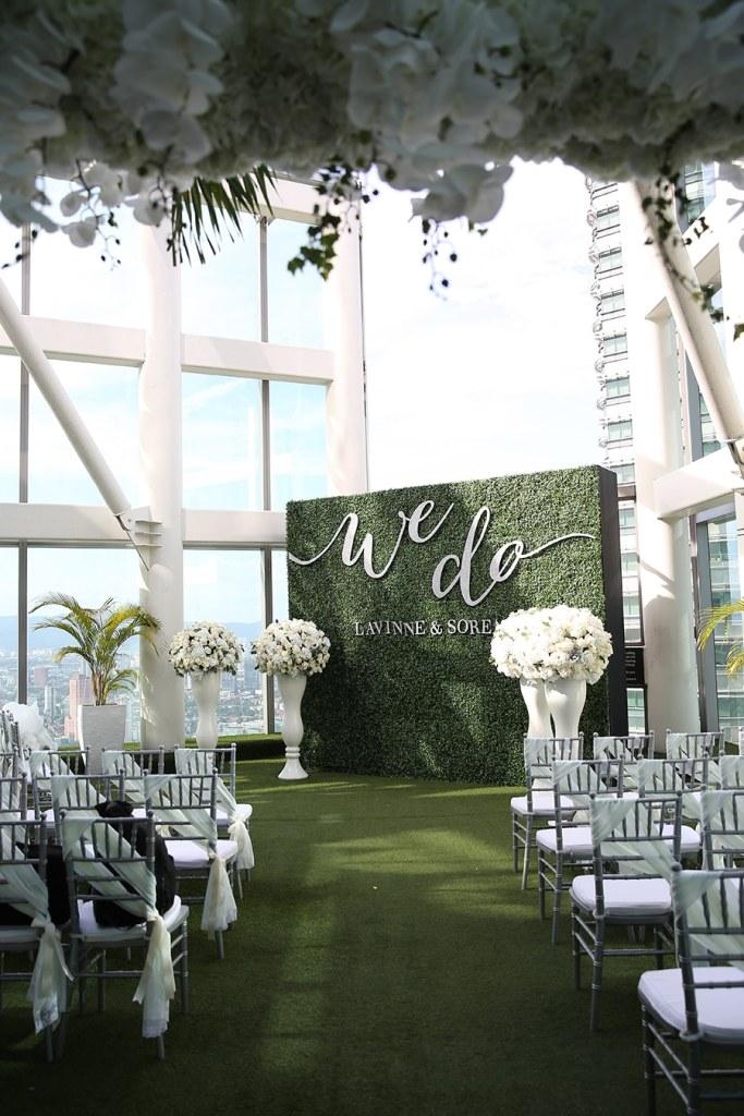 wedding green wall background