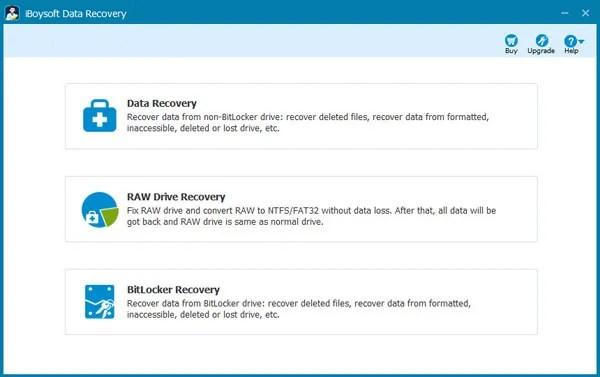 Software gratuito de recuperação de dados de partição / unidade RAW: iBoysoft Data Recovery
