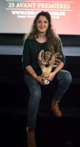 Zulma Rouge, réalisatrice de Un Réflexe, Prix du public (court-métrage)