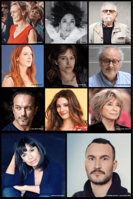 Le Grand Jury avec Sandrine Bonnaire (présidente), Naidra Ayadi, Eric Demarsan, Lætitia Dosch, Lou de Laâge, Oury Milshtein, Vincent Perez, Alice Pol, Danièle Thompson.