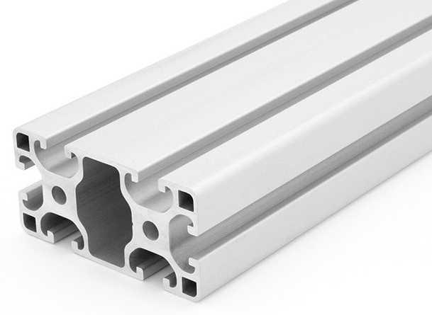 Perfil de aluminio de 40x80