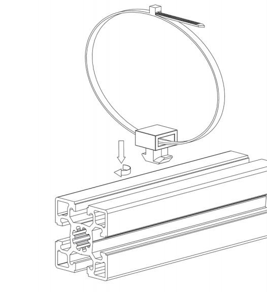 Agrupador de cables para perfiles de aluminio
