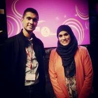 """Ibrahim with Nurun Ahmed, contestant on the tenth series of """"The Apprentice"""""""