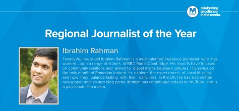 Ibrahim's Profile - page 53 of the Asian Media Awards 2015 brochure