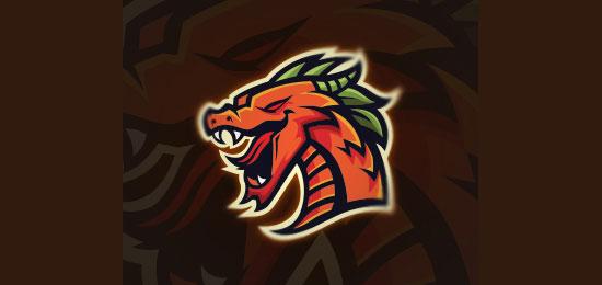 Mighty Dragon Mascot Logo Design by MascotLogoCaptain