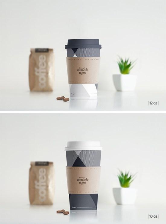 Paper Hot Cup Mockup por Dennysmockups