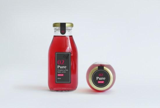 Juice Bottle Packaging MockUp por Ash Flint