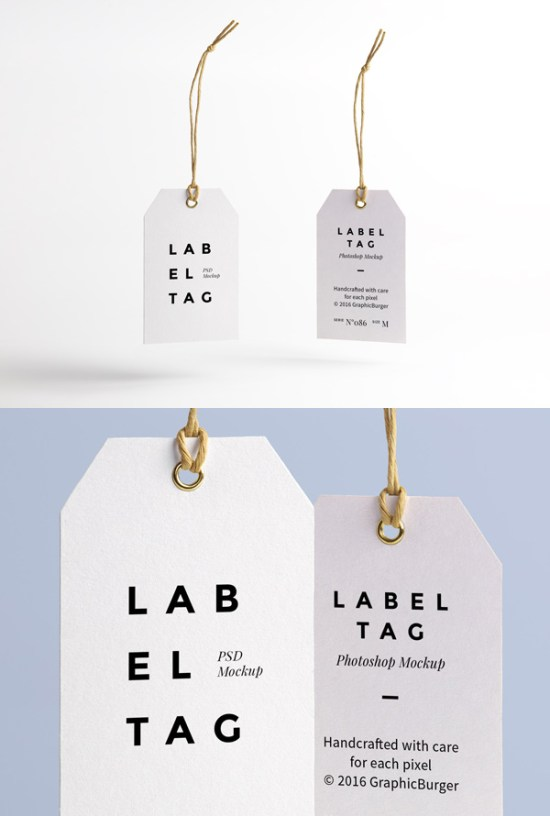 Label Tag PSD MockUp por GraphicBurger