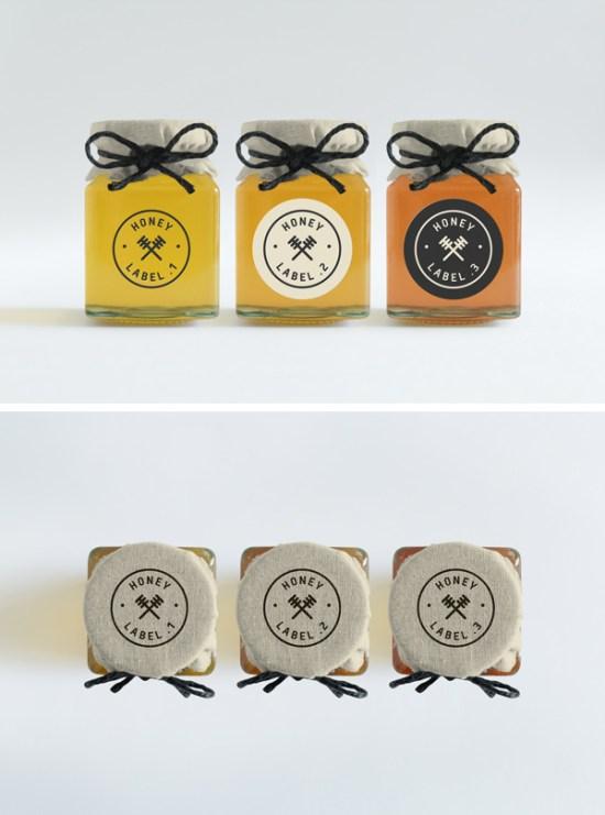 Honey Jars PSD MockUp por Ash Flint