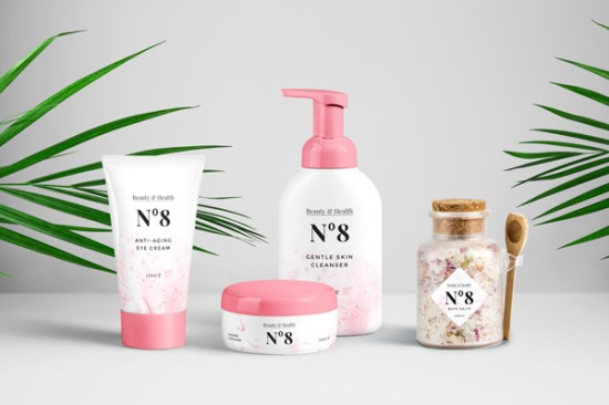 Cosmetics Packaging PSD MockUp por GraphicBurger