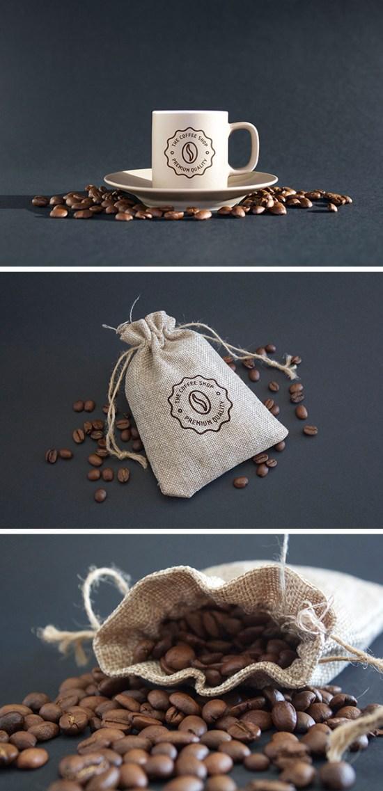 Coffee MockUps PSD por Ash Flint