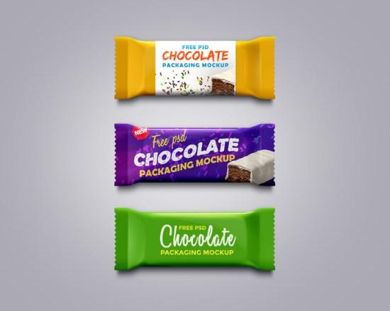 Maqueta de embalaje de chocolate PSD por GraphicsFuel