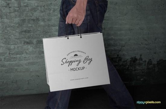 BOLSO DE COMPRAS ADAPTABLE GRATUITO MOCKUP PSD por ZippyPixels