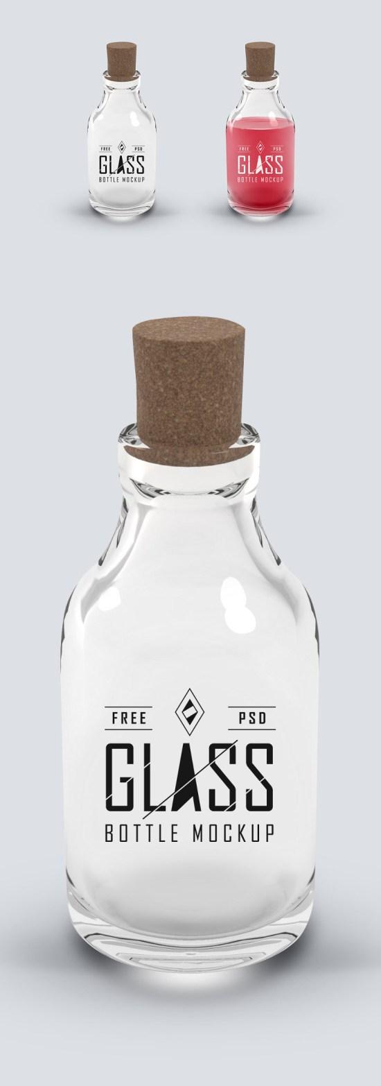 Glass Bottle PSD Mockup por GraphicsFuel