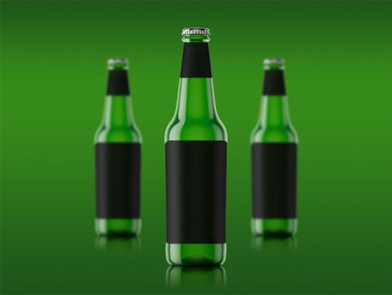 Maqueta de una sola botella de cerveza por Angelo Iannuzzi