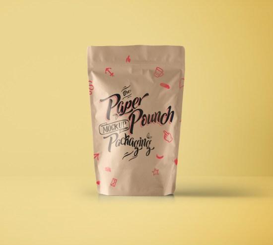 Psd Paper Pouch Packaging Vol4 por Pixeden