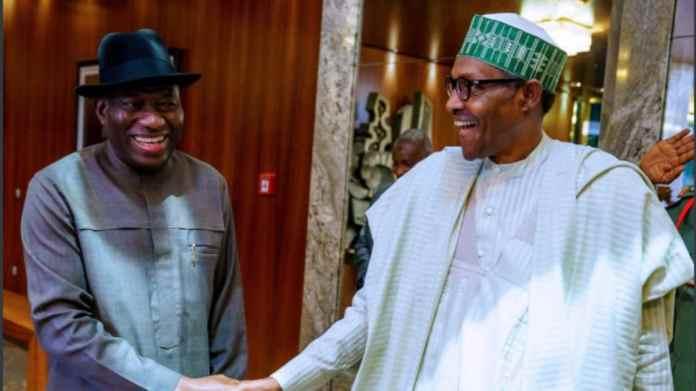 Again! President Buhari, Jonathan in closed-door meeting