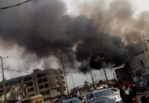 Image result for Breaking: Fire guts shopping mall at Balogun market