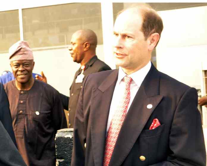 ARRIVAL OF PRINCE CHARLES AT THE MURTALA MOHAMMED AIRPORT.