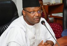 Buhari swears in INEC Chairman, Mahmood Yakubu, for 2nd term