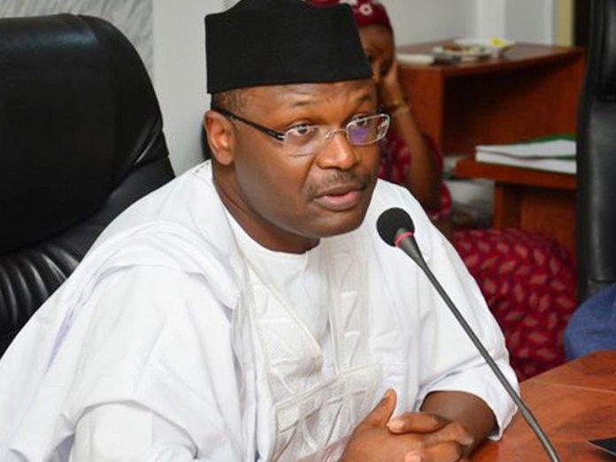 Buhari swears in INEC Chairman, Mahmood Yakubu, for 2nd term