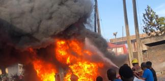 Breaking: Ogbogonogo market in Delta State currently on fire