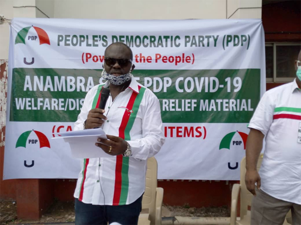 PDP alone rolls out N120m palliative, test centre in Anambra