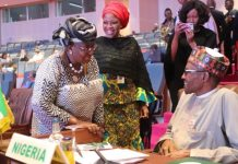Just In: Ngozi Okonjo-Iweala meets President Buhari in Aso Rock