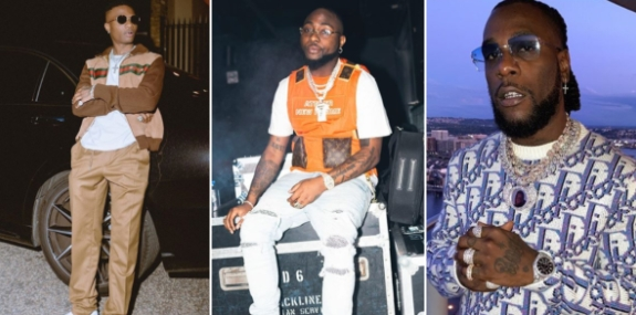 Wizkid Looks Away As Davido And Burna Boy Gets Physical In A Nightclub