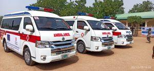 The ambulances donated to Yobe Govt by EU