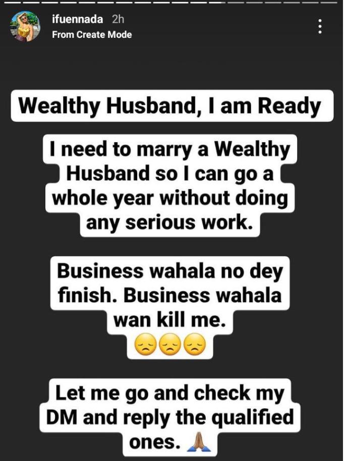 BBNaija's Ifu Ennada Reveal The Kind Of Man She Wants To Marry