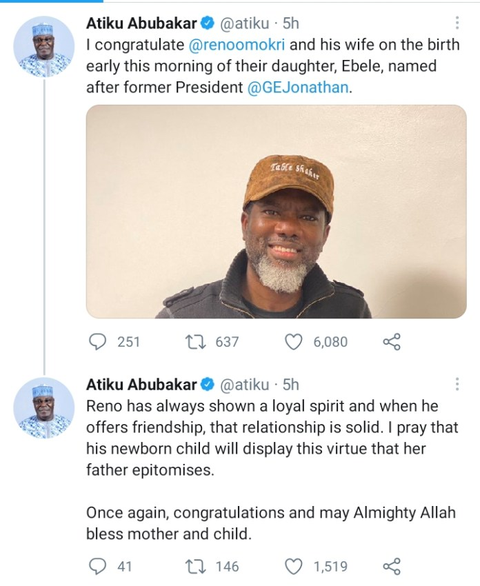 Reno Omokri And Wife Welcomes 4th Child, Names Her After Nigeria's Former President