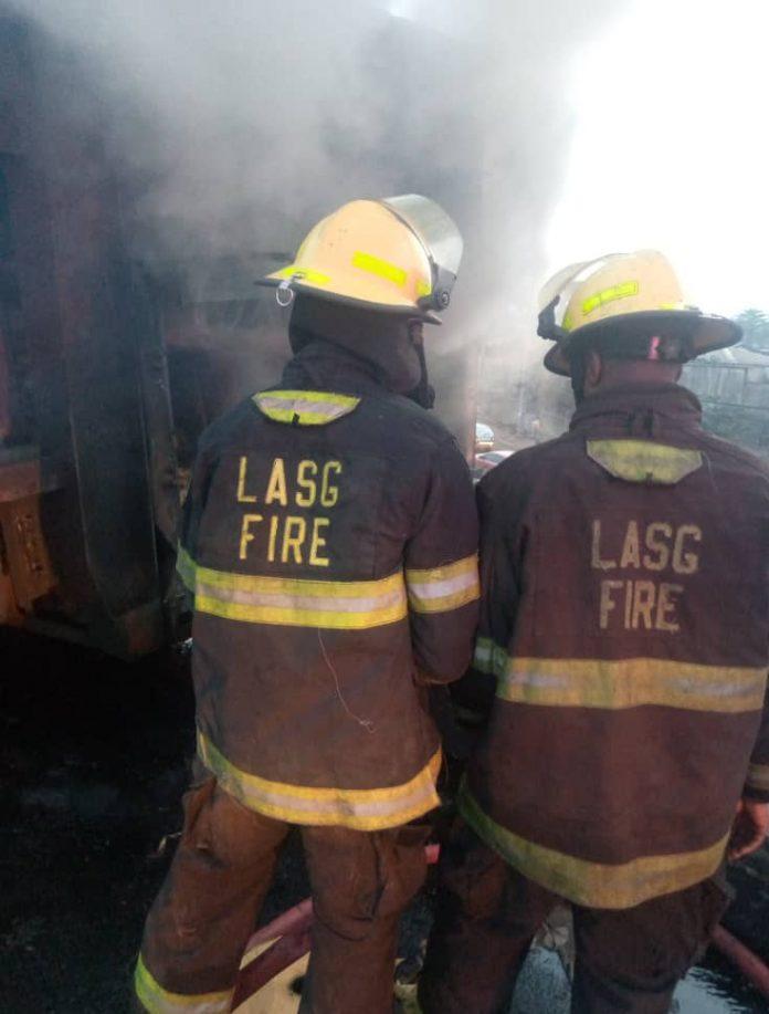 Otedola Bridge Fire Leaves Seven Buses Burnt