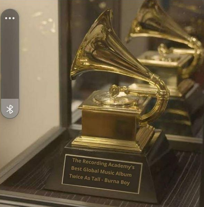 Singer 2Baba Flaunts Burna Boy's Grammy Award, Says The Dream Has Become Reality