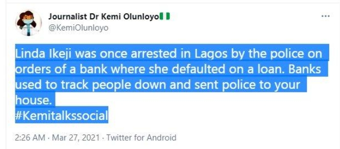 Kemi Olunloyo Lashes Out At Linda Ikeji Says She Was Once Arrested