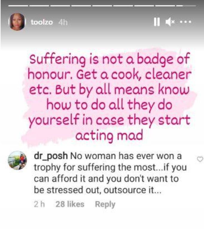 'Suffering Is Not A Badge Of Honour'- OAP Toolz Tells Women
