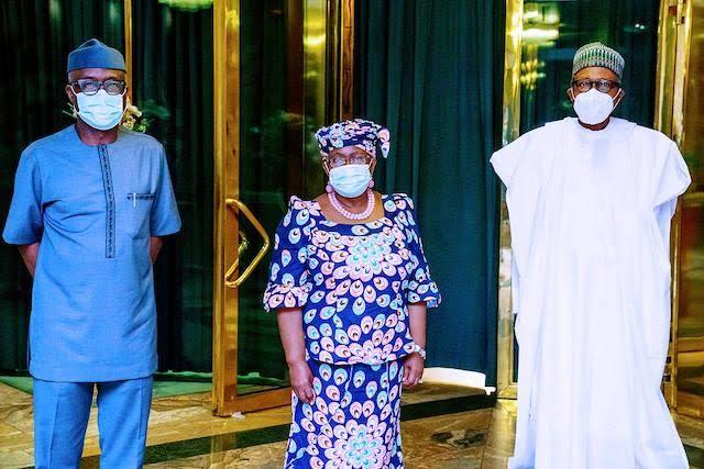 Just In: Buhari, DG WTO, Okonjo-Iweala meet in Abuja