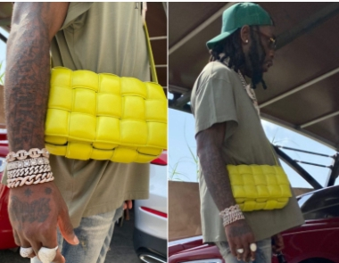 Reactions As Burna Boy Steps Out With A Female Bag