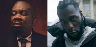 Watch Don Jazzy And Burna Boy Cooking Up Something In The Studio