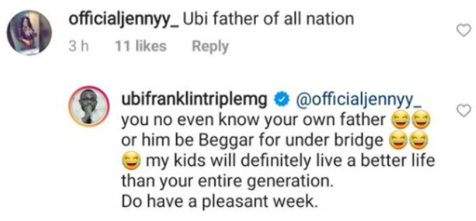 Ubi Franklin Blast Troll Who Referred To Him As 'Father Of All Nations'