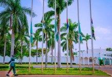 COAS: Flags Fly At Half Mast In Presidential Villa