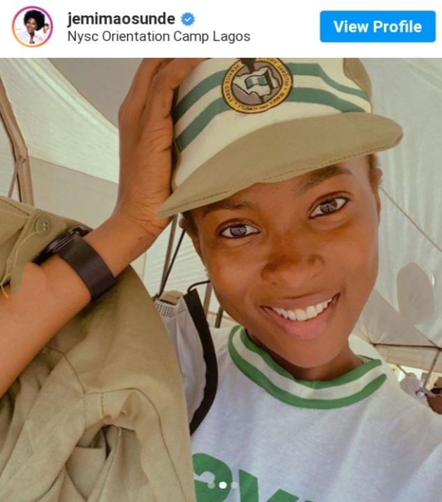 See Photos Of Actress Jemima Osunde As She Goes To NYSC Camp
