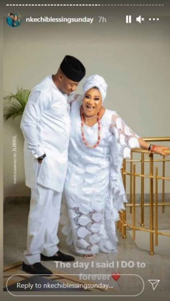 Nkechi Blessing Finally Releases Wedding With Hubby As He Clocks A New Age