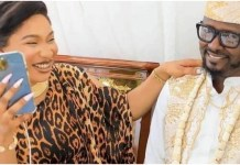 Tonto Dikeh Excited As Lover Accompanies Her To Sons Graduation Ceremony