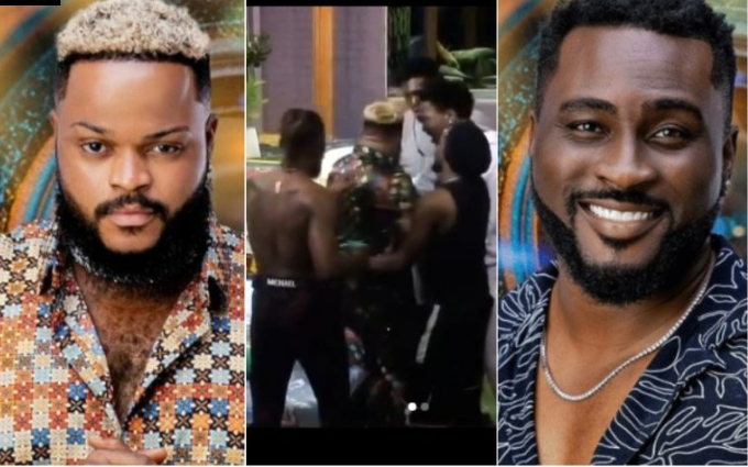 BBNaija 2021: Watch Videos As White Money, Pere Fight Dirty On The Show