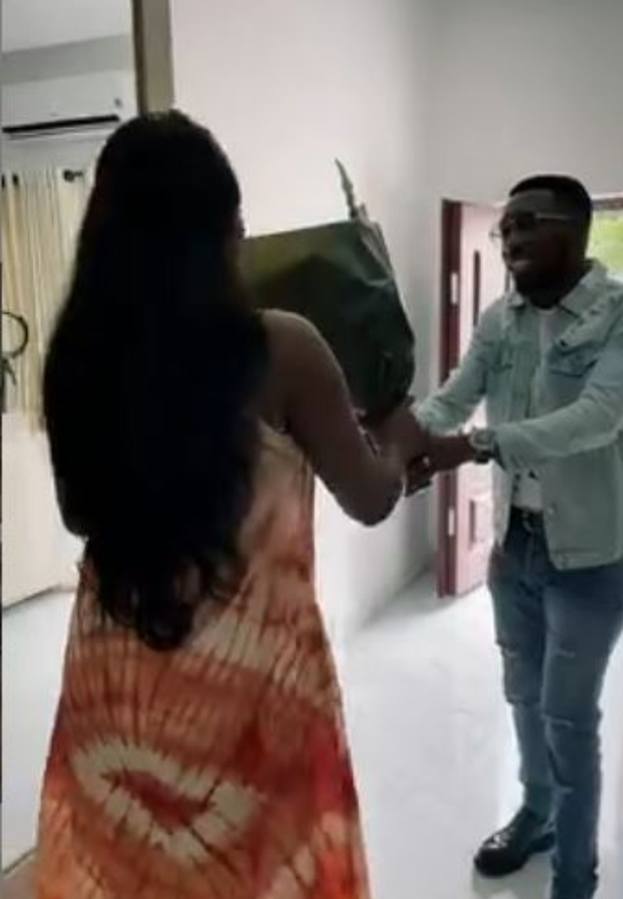 Watch Beautiful Moment Timi Dakolo Surprises Tobi Bakre, Partner With Gifts
