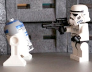 Star Wars Lego robots fight